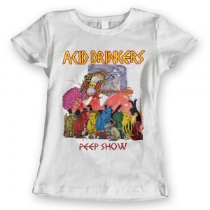 Acid Drinkers - Peep Show T-shirt (damska biała kolor)