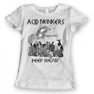 Acid Drinkers - Peep Show T-shirt (damska biała)