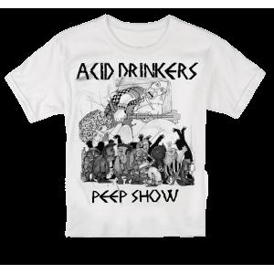 Acid Drinkers - dziecięcy t-shirt Peep Show (biały)