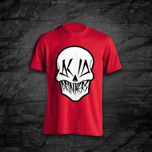 Koszulka - Acid Drinkers - Czaszka (czerwona)