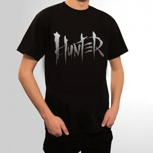 HUNTER  XXXV  koszulka czarna / srebrny nadruk -  wysyłka po 28-12-2020